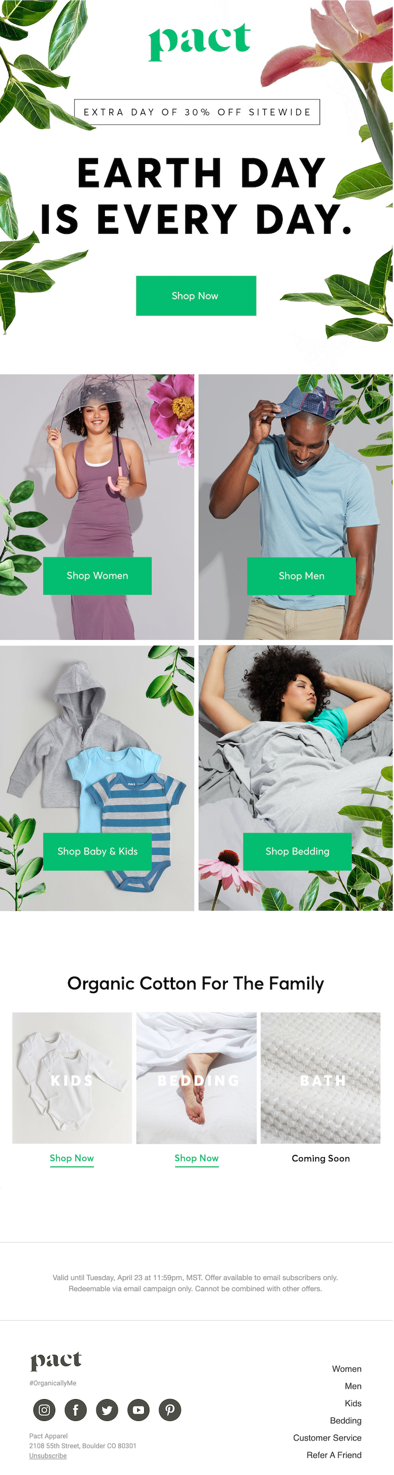 earth day email design