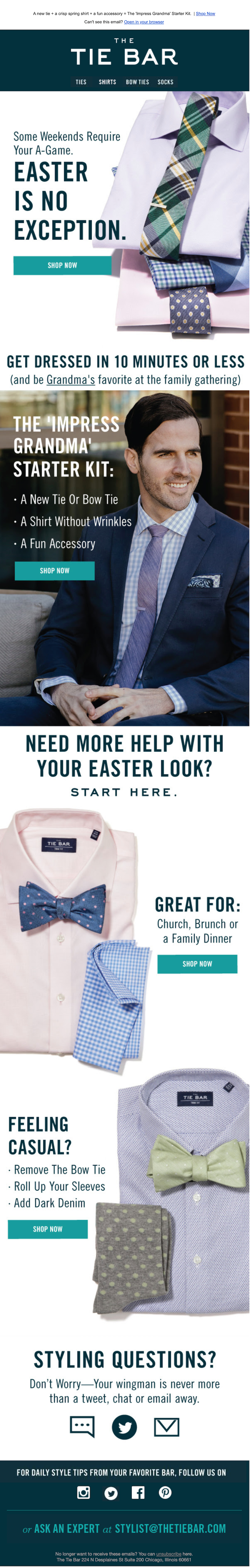 easter email ideas