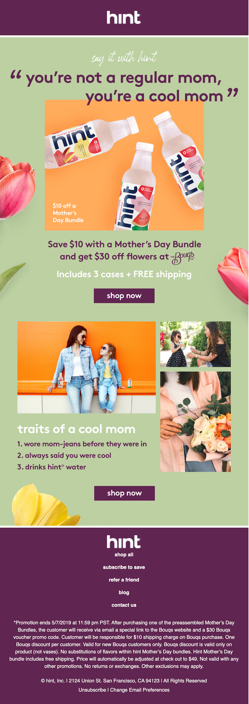 colorful mother's day email