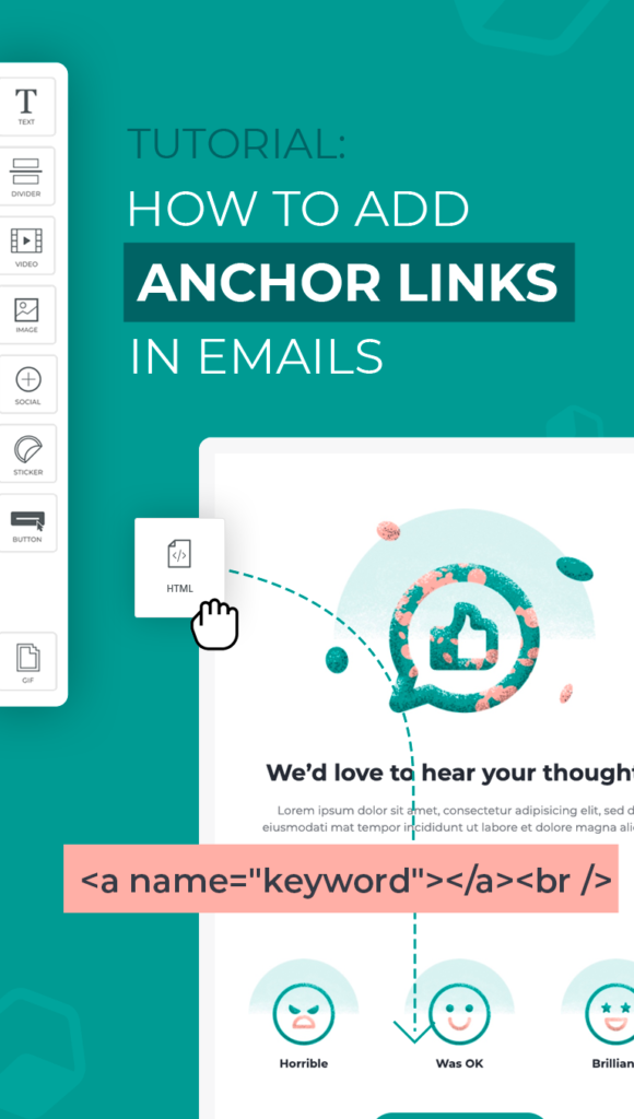 Anchor Link in Email Cover
