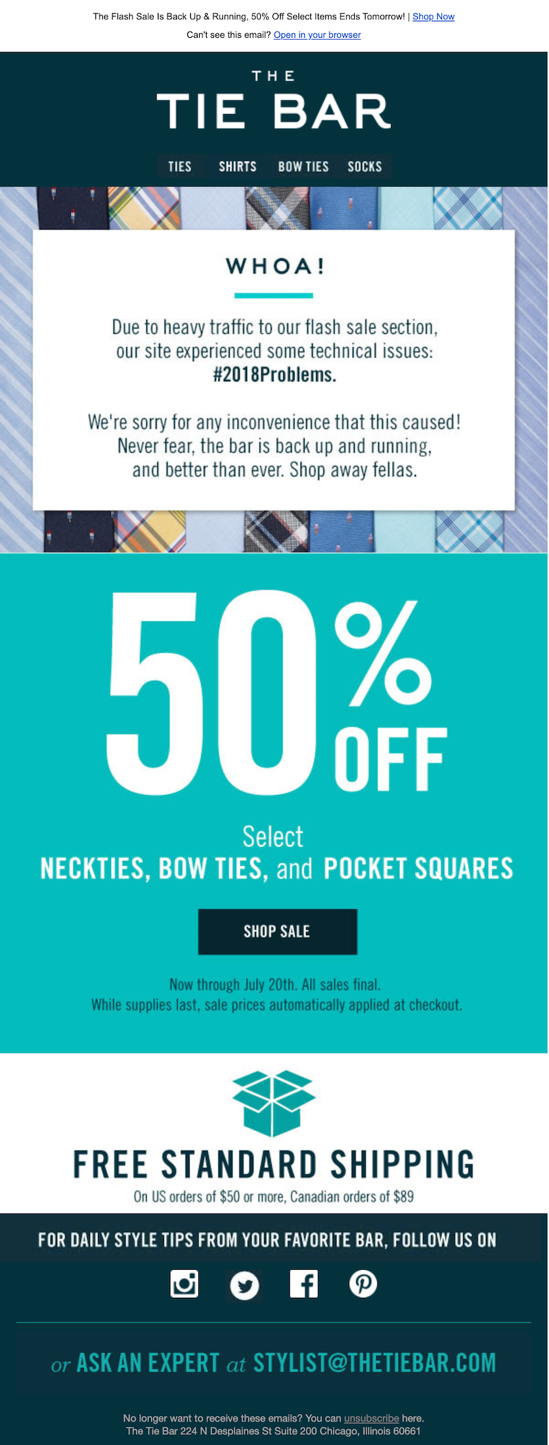 late delivery email examples