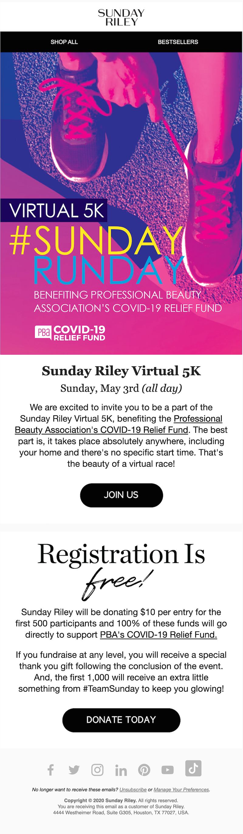 fundraising email ideas