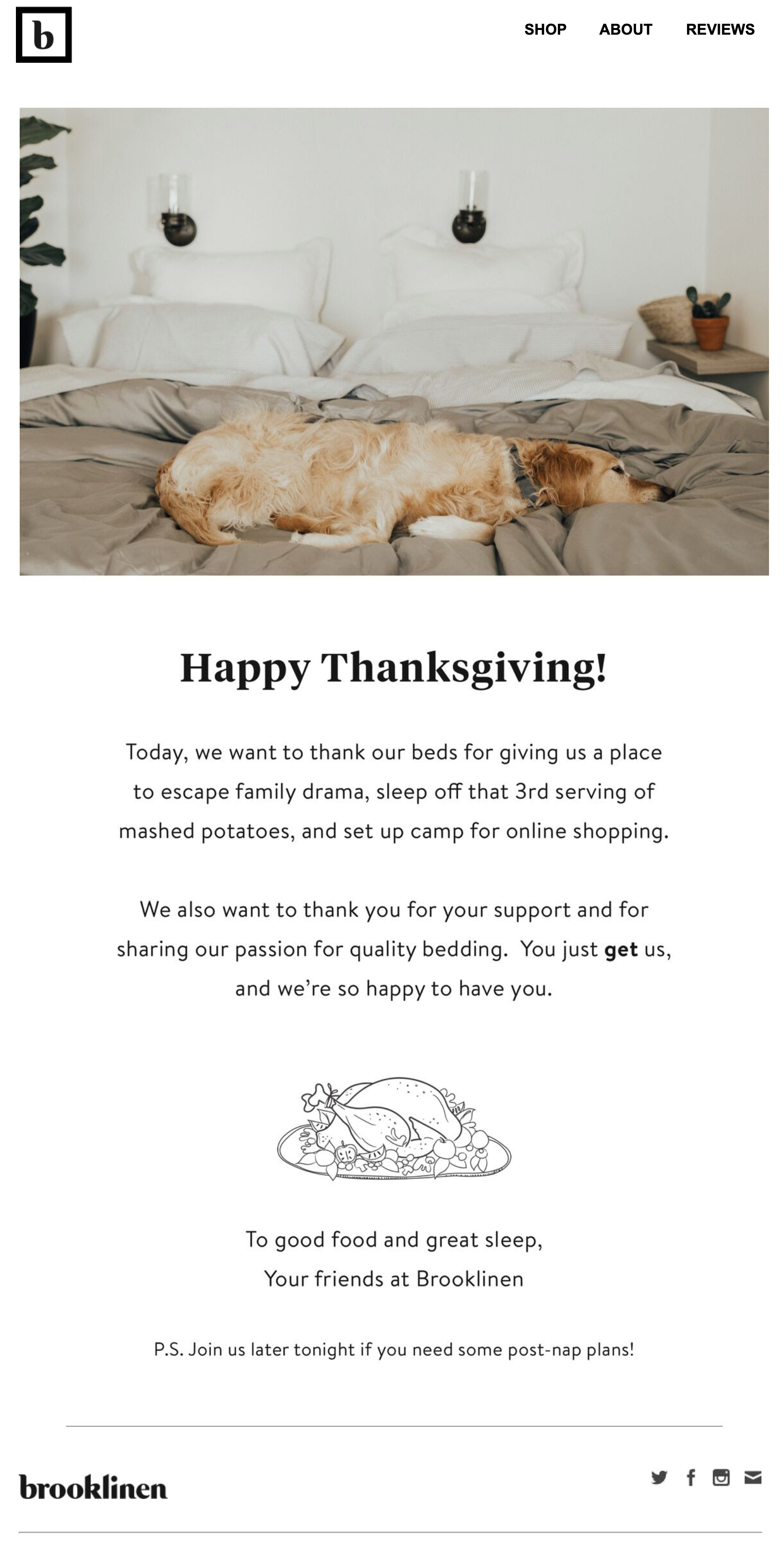 happy thanksgiving email