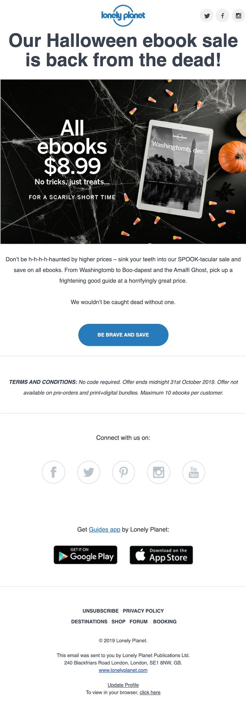 halloween marketing email