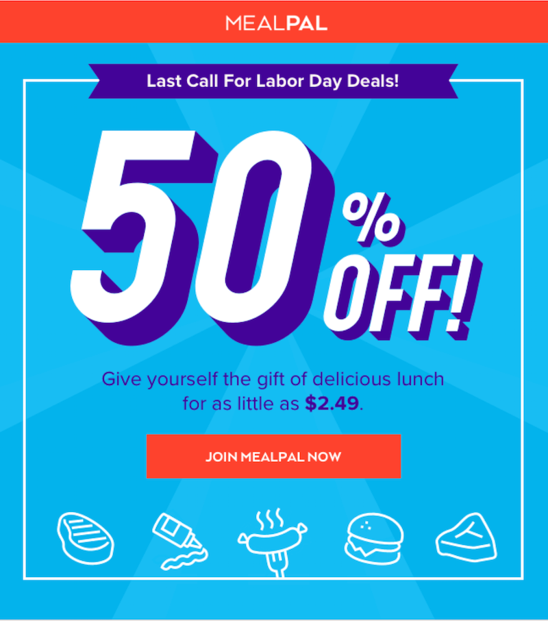 labor day marketing email