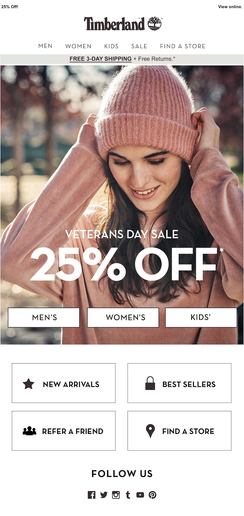 fall email campaign