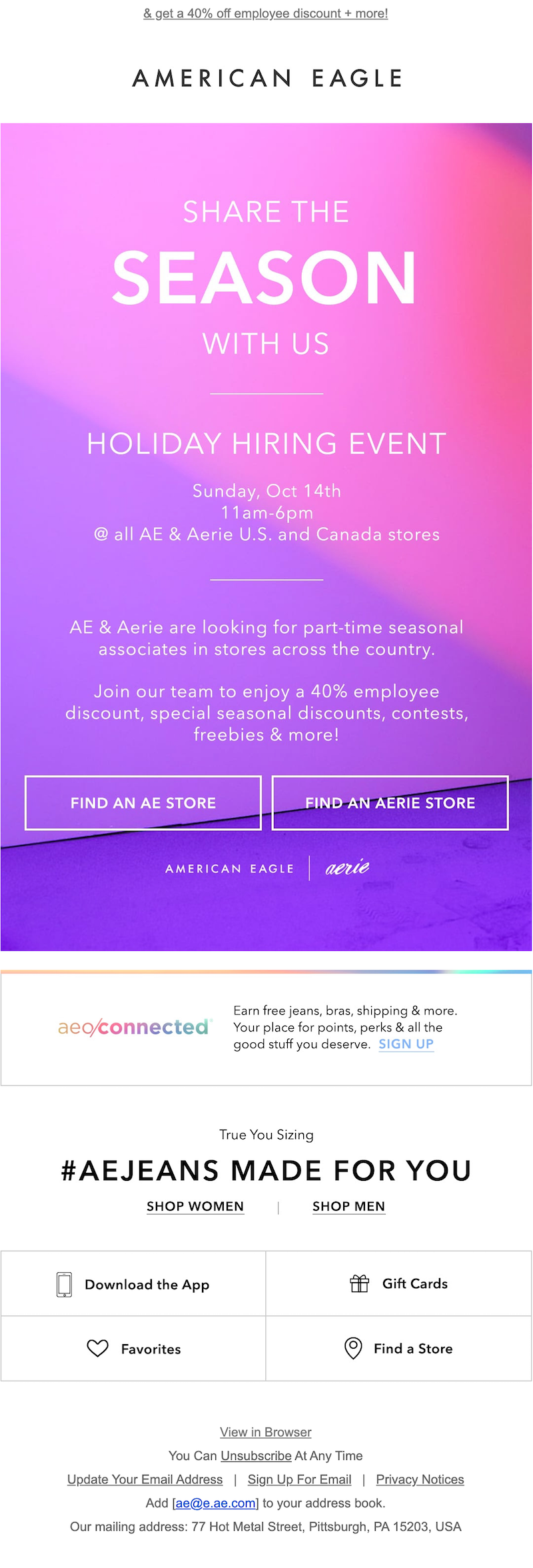 we're hiring email