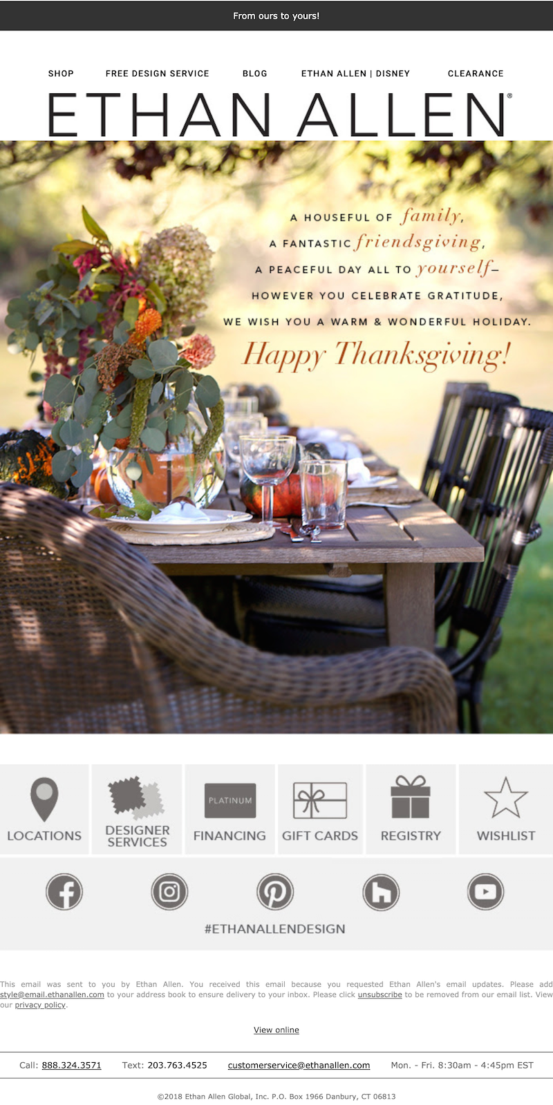 empathy marketing thanksgiving email