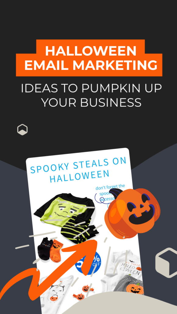 white email with pumpkins and blog post title