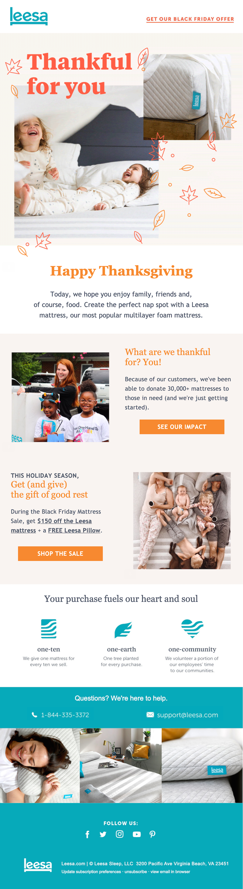 thanksgiving email marketing campaign