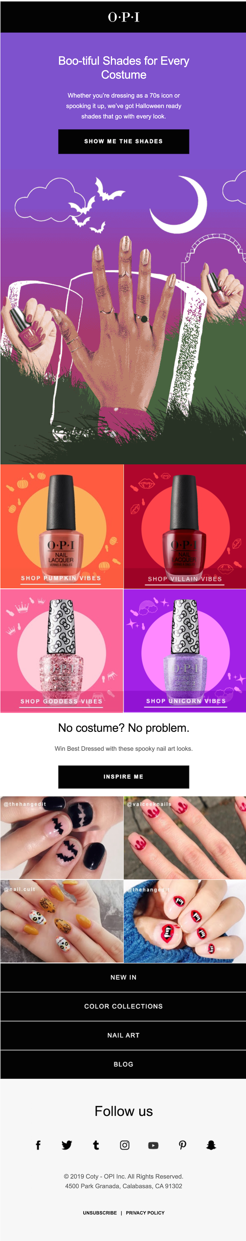 creative halloween email