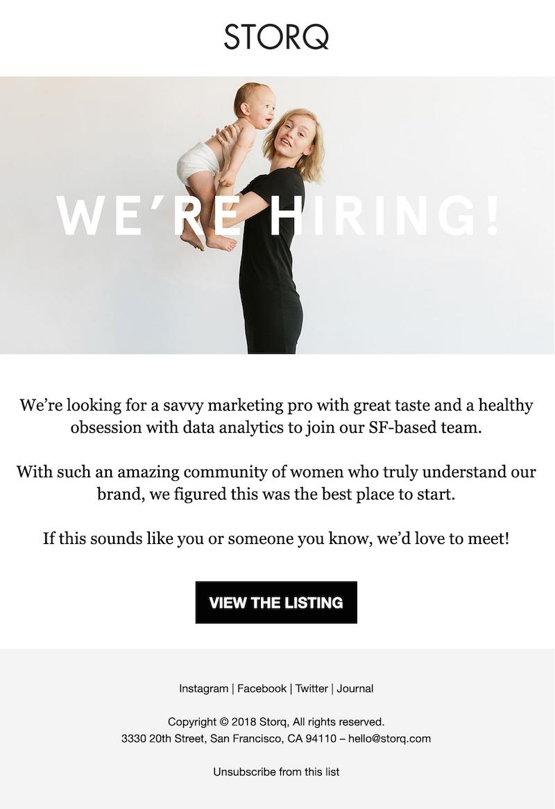 employer branding email example