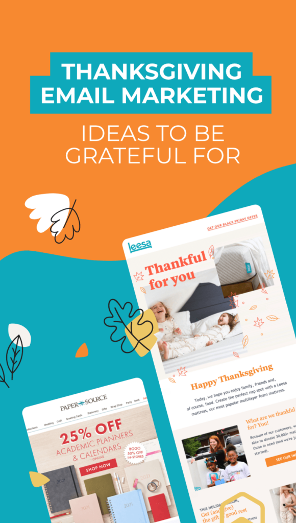 two emails from thanksgiving day
