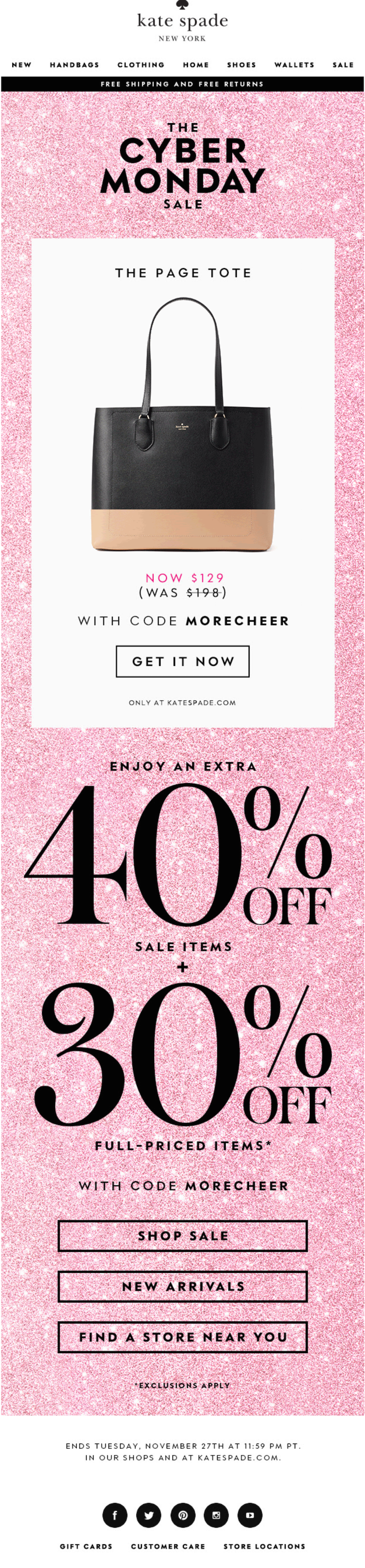 cyber monday email campaign