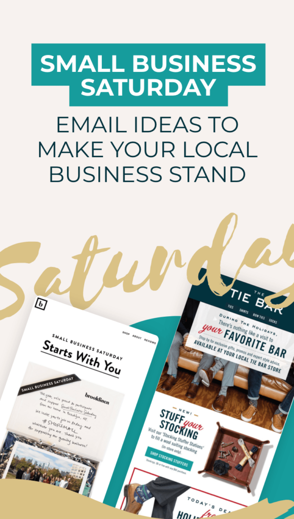two emails about small business Saturday