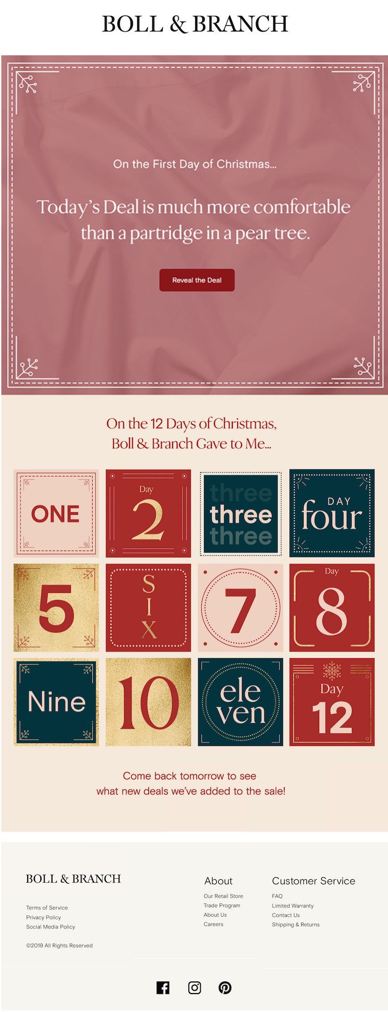 creative Christmas email