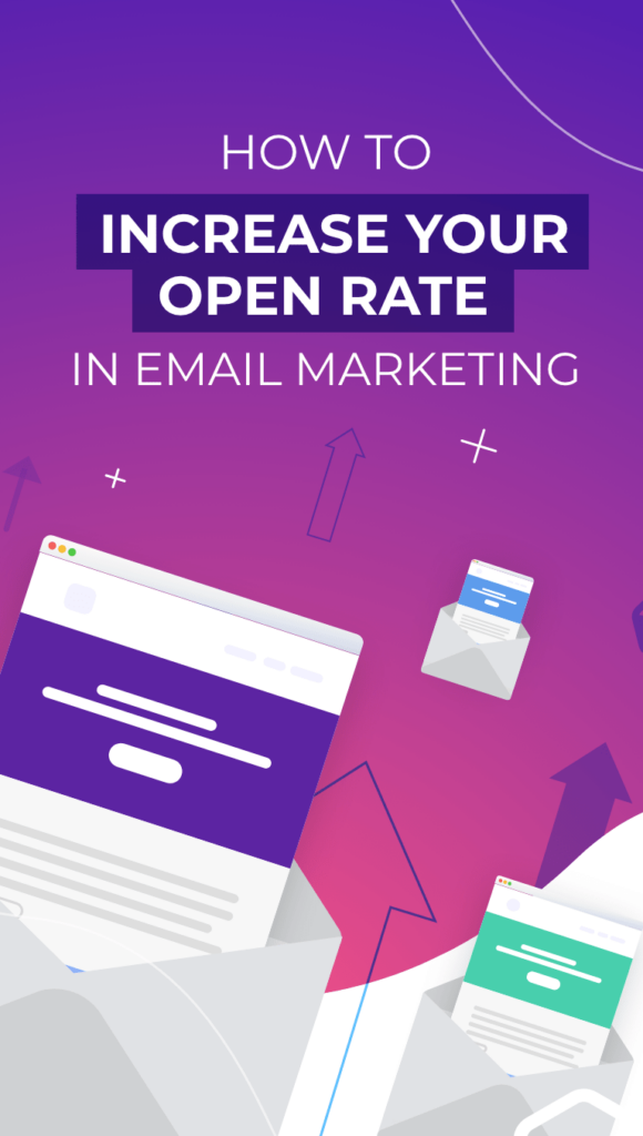 email layout with a violet background