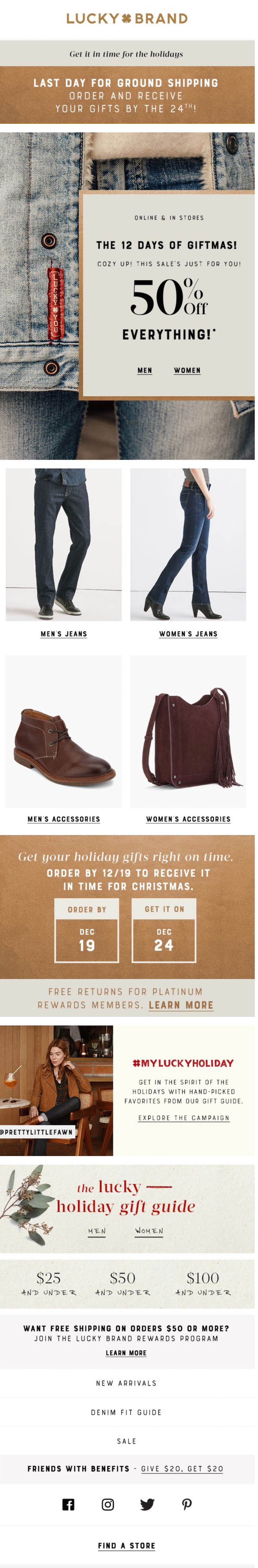 Christmas marketing email