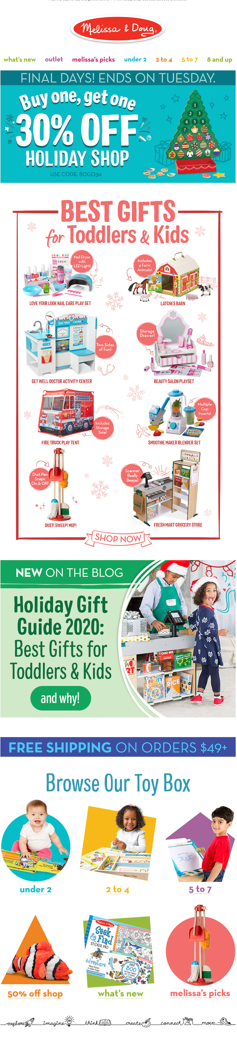 Christmas email campaign ideas