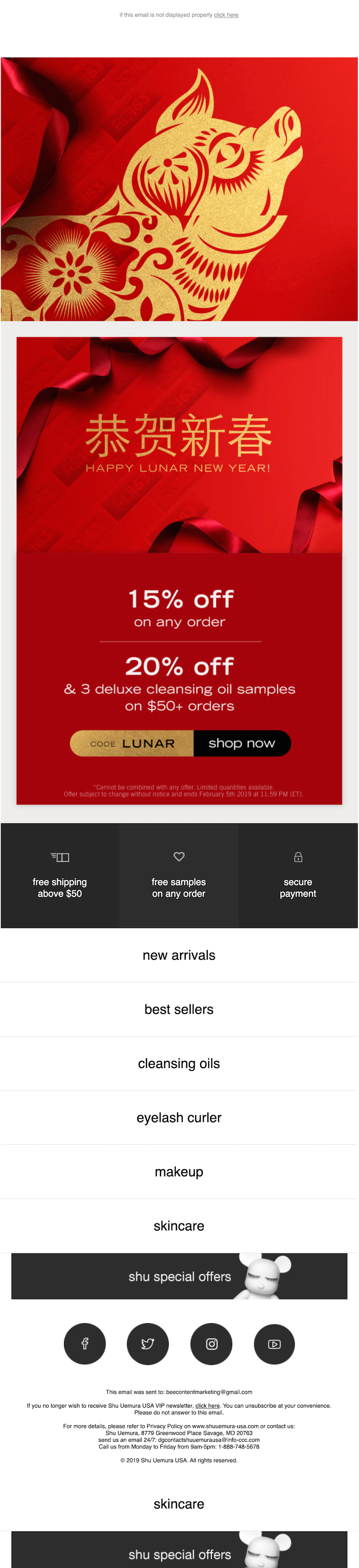 lunar new year email