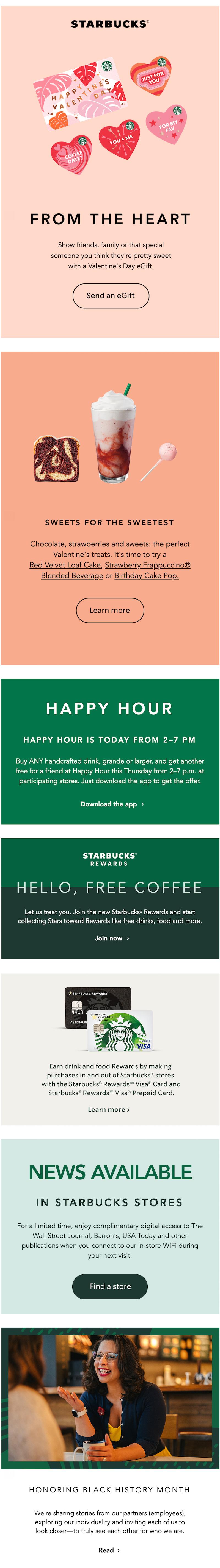 valentine's day email marketing design