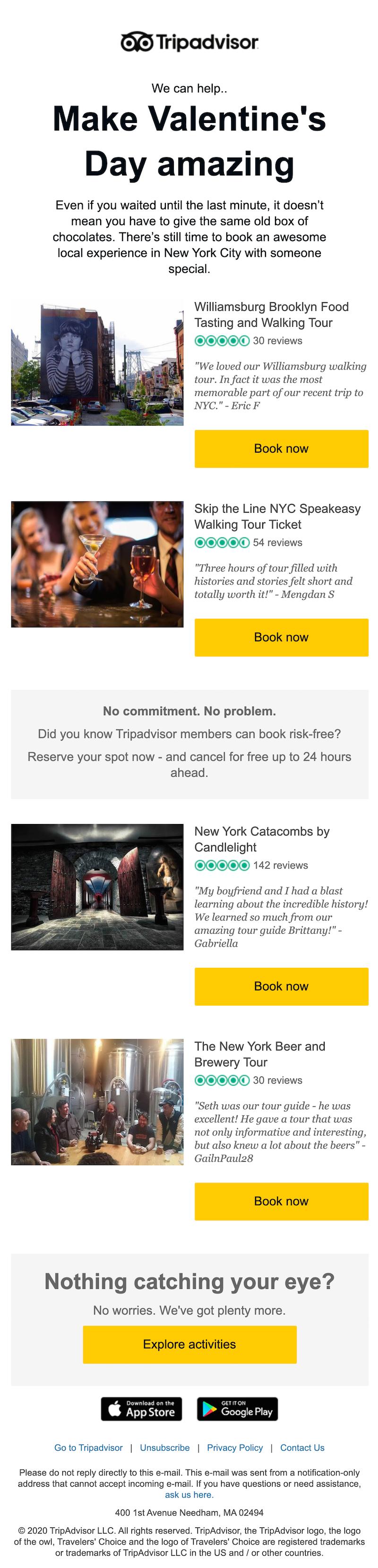 valentine's day email marketing