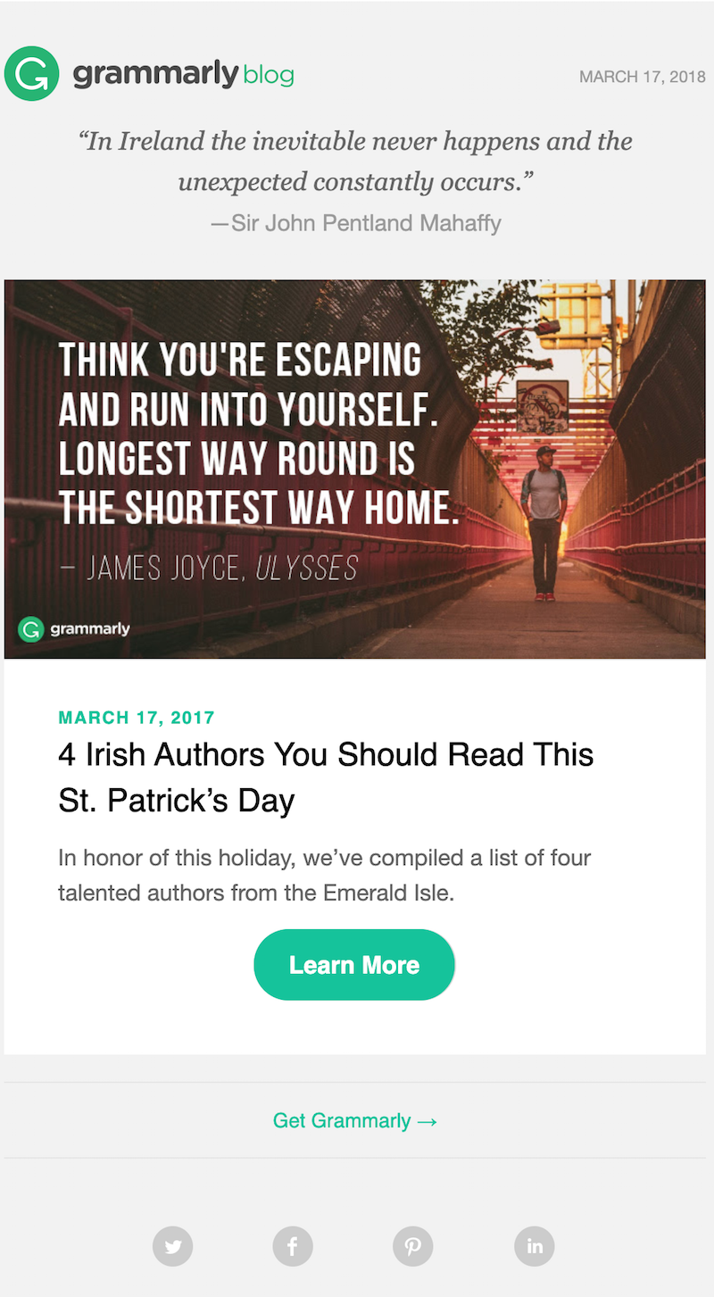 happy st. patrick's day email