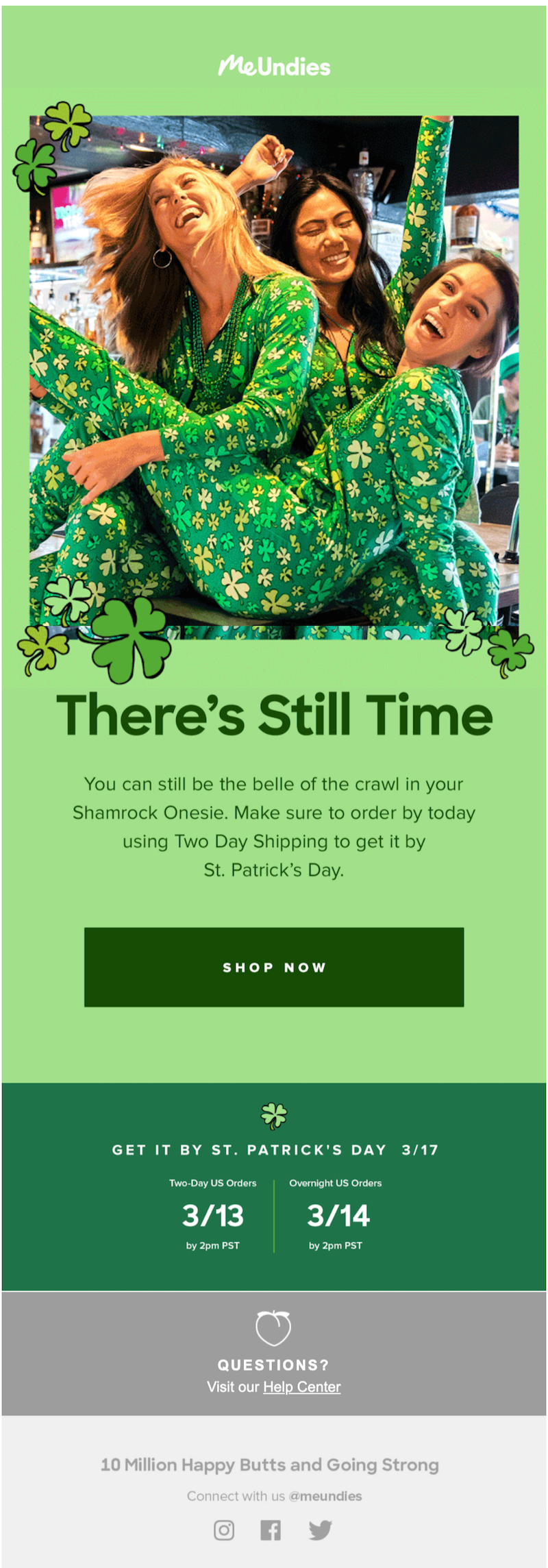 st. patrick's day email