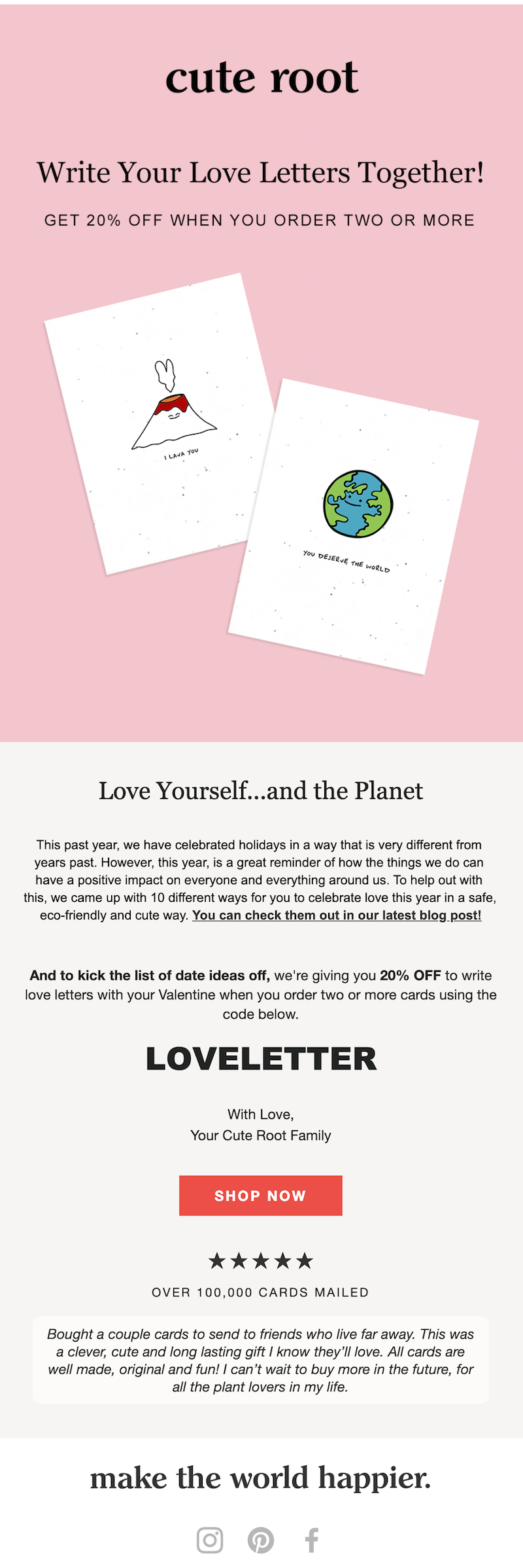 valentine's day email example