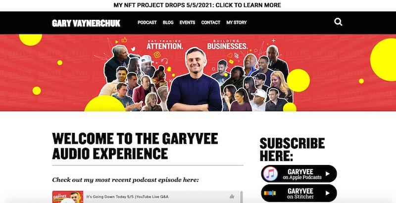 creative podcast landing page design