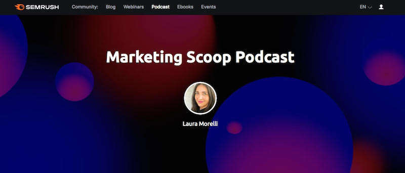 best podcast landing page examples
