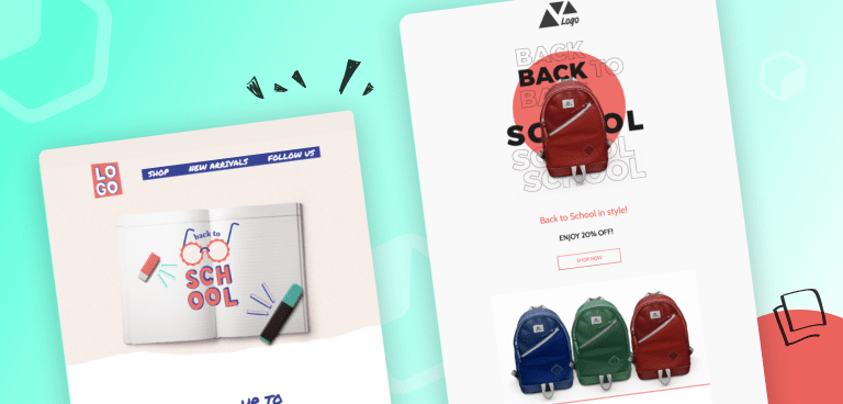 """9 """"Back to School"""" Email Design Inspirations"""